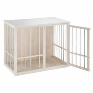 Dog Kennel Indoor Robust Wooden Cage Crate Easy Clean Best Quality Rubber Feet