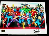 Animation Cel. Signed by Stan Lee W/COA  Hulk X-Men Thor FF Cap Wolverine