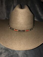 New Western Cowboy Hat Brown With Brown Concho Hatband Wool Size 6 7/8