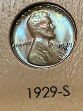 1929-S LINCOLN WHEAT CENT, ICG MS64 BROWN, LAMINATION ERROR, DEEP LUSTER/ TONING