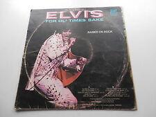 ELVIS PRESLEY 1973 YUGOSLAVIAN LP FOR OL TIMES SAKES  RAISED ON ROCK