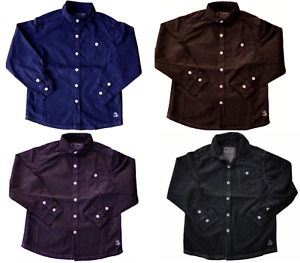 EX-NEXT Kids Boys Long Sleeves Plain Shirt Top,Shirts Casual Formal 100% Cotton