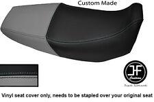 Negro y Gris personalizado de vinilo cabe Honda Xr 125 03-12 Dual Cubierta de asiento solamente