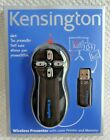 NEW KENSINGTON WIRELESS PRESENTER with LASER POINTER and MEMORY - K72336USA