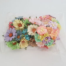 35 Daisy Roses Mulberry Paper Flowers Wedding Headpiece Scrapbook MD1/2-426