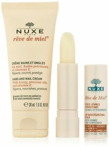 Nuxe Rêve de Miel Discovery Offer Hand and Nail Cream 30ml + Lip Moisturizing...