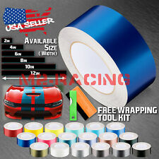 Matte Metallic Satin Pearl Racing Stripes Vinyl Wrap Rally Sticker 10/20 Feet