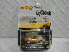 Hot Wheels Retro Entertainment Gas Monkey Garage Gold '68 Corvette w/Real Riders