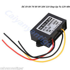 DC 5V 6V 7V 8V 9V 10V 11V Step Up To 12V 48W Converter Regulator Car Boost Power