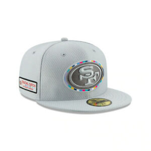 """San Francisco 49ers NFL New Era """"Crucial Catch"""" 59FIFTY Fitted Cap-Gray"""