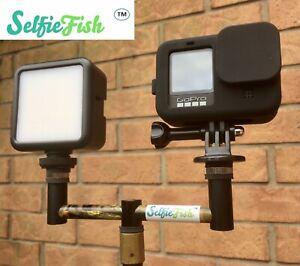 Self Take System Carp Fishing, Inc Buzz Bar,led Lgt, GoPro Adapter. Selfie Fish
