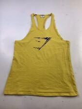 Gymshark Tank Top Muscle Workout Yellow Size Medium