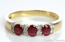 Ruby Yellow Gold 18k Engagement Rings
