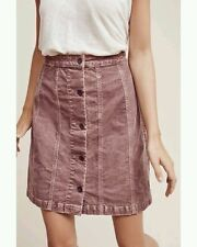 NWT Anthropologie Pilcro Gallery Skirt Red Size 14 Motif L Sz Large