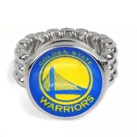 Golden State Warriors Basketball Silver Mens Womens Ring Fits All Sizes GiftP D2