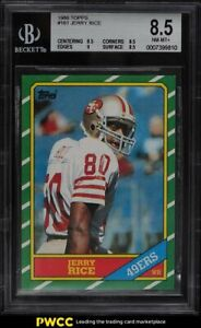 1986 Topps Football Jerry Rice ROOKIE RC #161 BGS 8.5 NM-MT+