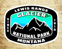 "Glacier Decal Sticker National Park Lewis Range Montana 3.75"" x 2.75"""