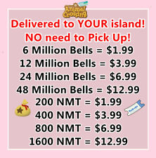 Animal Crossings:Bells Nook Miles Dream Bell Tickets Fish Bait Delivered! 1.4ver