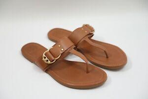 206 Tory Burch Marsden Flat Thong Sandals Size 9.5   RETAIL $228