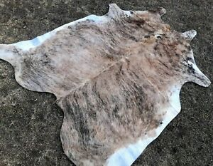 NEW COWHIDE RUG LEATHER AREAskin Cow hide BRINDLE - FREE SHIPPING