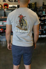OLD GUYS RULE DIRTY OLD MAN T-SHIRT MOTORCYCLE GRAY SIZE M