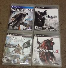 4 NICE PS3 GAMES - PROTOTYPE 2 WATCH DOG BATMAN ARKHAM CITY ASSASSINS GREED IV