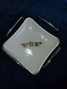 VINTAGE PLAYBOY CLUB  GLASS VIP BUNNY LOGO ASHTRAY 'COLLECTABLE' SET OF FOUR