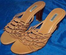 WOMEN SHOES ALFANI  MULES Size 7.5M Leather Gold NEW