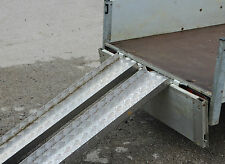 "Trailer Ramps 1 Pair Chequer Plate 48"" Long 6"" Wide & 1.5"" Folded Sides x 3 mm"