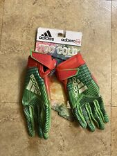 Adidas Adizero 8.0 Too Cold Football Gloves Snowcone Melon Youth (Size: Large)