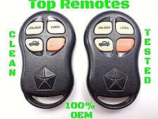 Chrysler Sebring Remotes KYPTX002 Remote Pair OEM Key Fobs 1997 1998 1999 2000