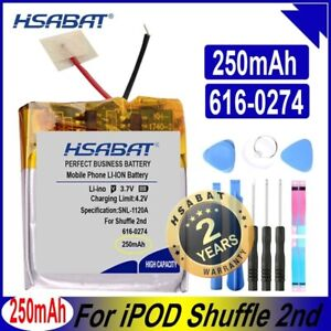 HSABAT 616-0274 250mAh Battery for iPOD Shuffle 2nd Generation 2 Shuffle2 G2 G3
