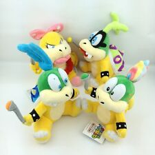 4X Super Mario Bros Koopalings Larry Iggy Lemmy Wendy O. Koopa Plush Toy Figure