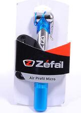 Zefal Air Profil Micro Mini Bicycle Pump, 100 PSI, Blue