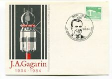 1984 J A Gagarin Wosotk 1 Berlin 8 Geboren AK Kosmos DDR SPACE NASA