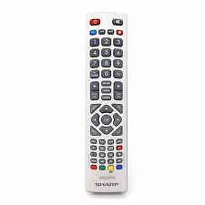 GENUINE SHARP AQUOS Remote Control for Full HD SMART DEL Freeview TV 's