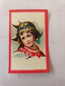 392) OLD MATCHBOX LABEL SWEDEN  WOMAN  GLAZED   5,5 X 3,5 CM