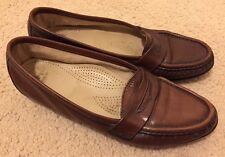 SAS Tripad Comfort Brown Penny Loafers Shoes Women's 7.5 N Made In USA