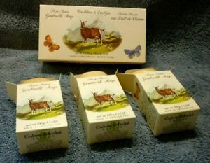 CRABTREE & EVELYN PURE SWISS GOATMILK SOAP NEW 3 BARS 3.5OZ EACH