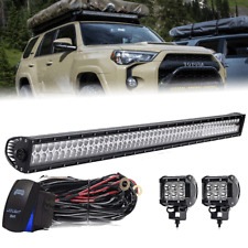 For 2005-2018 Toyota Tacoma Roof Rack 50'' LED Light Bar Combo+Pods +Wiring Kit