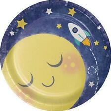 To The Moon and Back Baby Shower Dessert Plates Party Supplies New