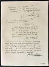 1926 - Litografía citación Puccini, Lopez, Mascagni, Marconi