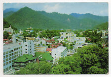 """JAPAN = RP, Jozankei Hot Springs. c.1970. Mailed """"Sea Mail"""" SAPPORO to SOMERSET"""