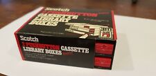 Retro Scotch brand Cassette Storage Box 2 push button as new