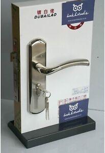 Internal External  Door Lever Handles Lock Privacy Brushed Steel Sashlock 7 Keys