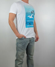 NWT HOLLISTER Guy Print Logo Graphic Men Crew Neck T Shirt Tee By Abercrombie