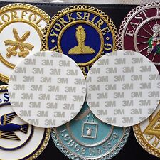 MASONIC REGALIA Double Sided 100mm White Circular Adhesive Pads for Apron Badges