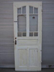 Zimmertür Lichtausschnitt Glas Jugendstil um 1920 DIN. rechts / H226 B91 S4