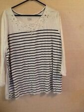 Basic Editions Woman's Top Size 3X White