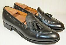 J.M. Weston Black Tassel Loafer Size US 9 D Made in France